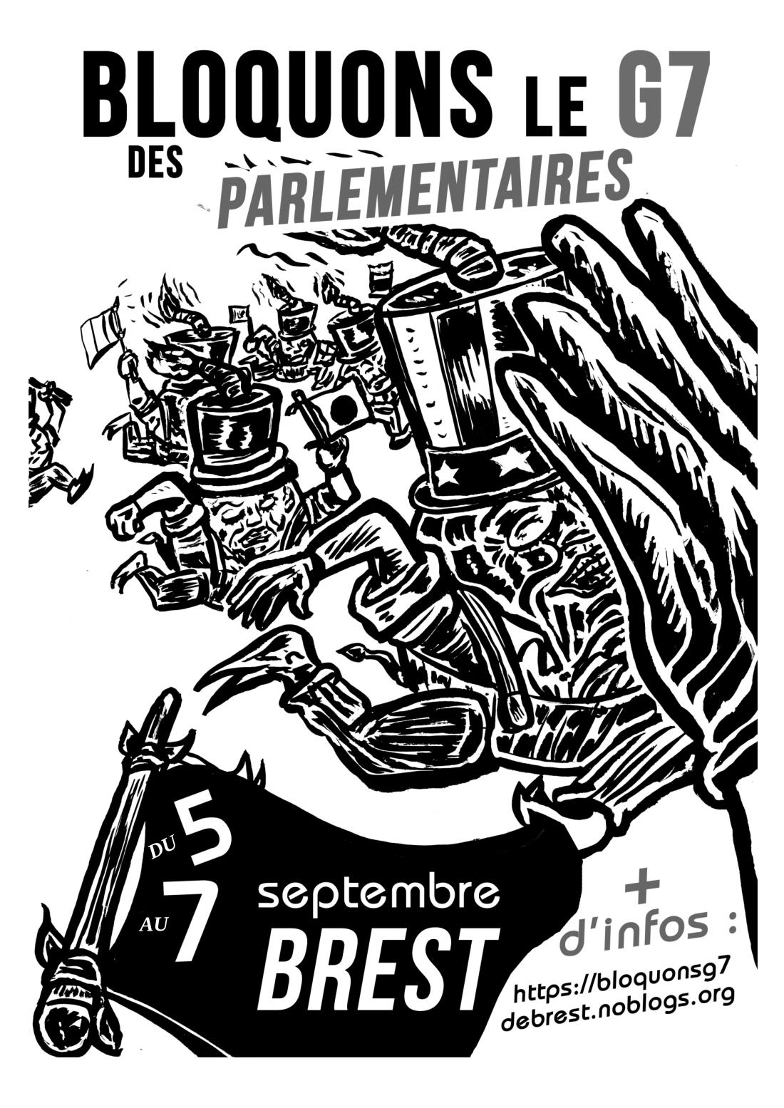 AFFICHE Bloquons le G7 du 5 au 7-09 à Brest