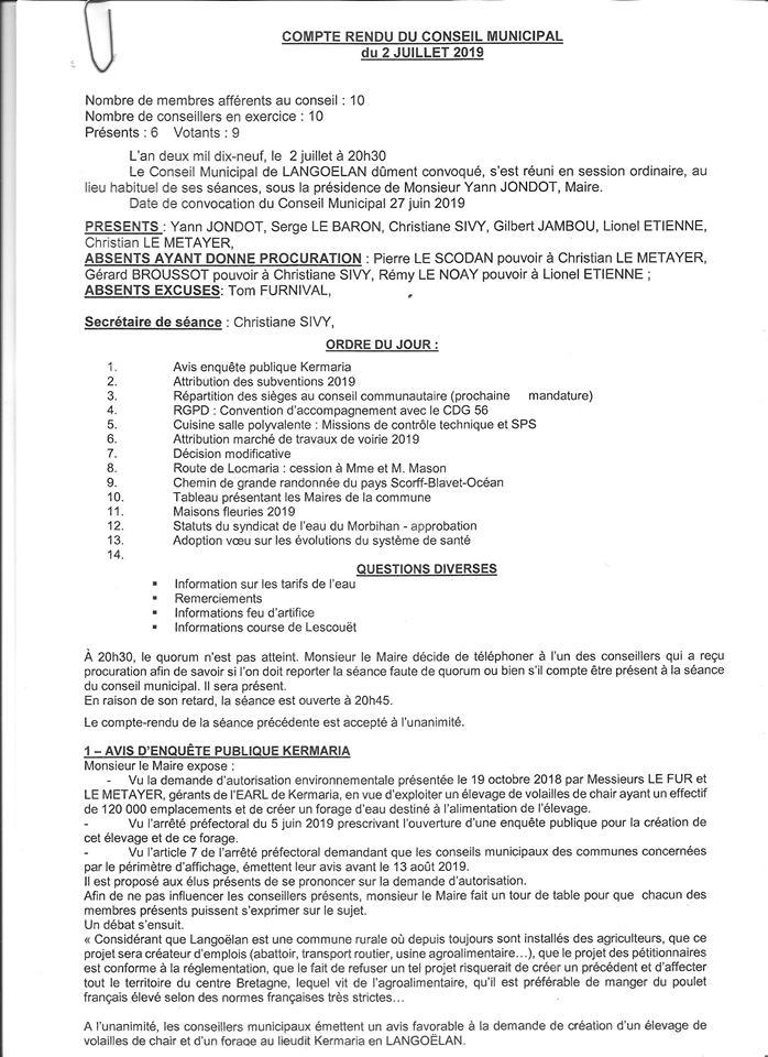 CR conseil municipal 02-07-2019
