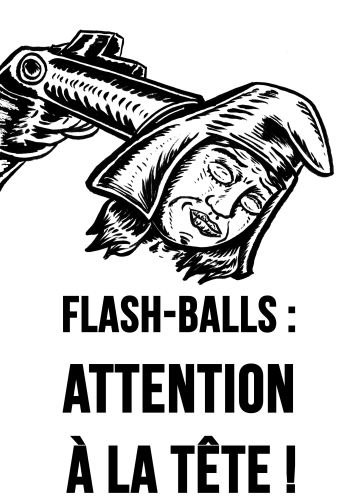 Flashballs attention à la tête !