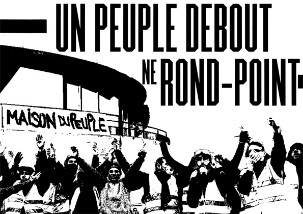 Un peuple debout ne rond-point