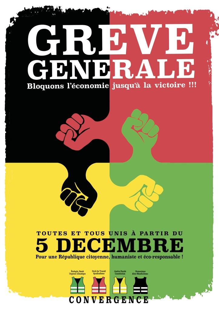 Affiche A4 Grève 5 décembre 2019