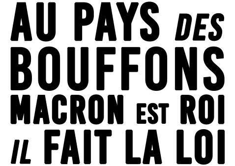 Au pays des bouffons Macron est roi