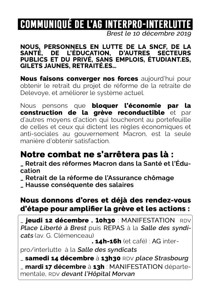 Fly GG 12-12 Communiqué
