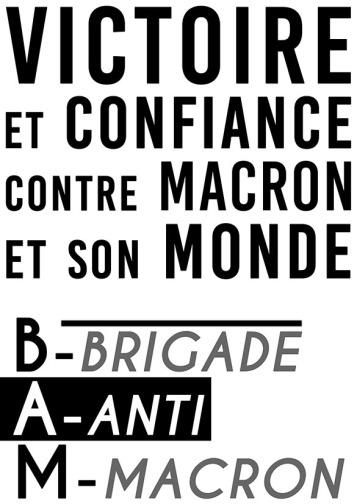 Victoire et confiance contre Macron et son monde 3