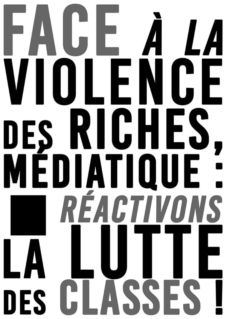 Face à la violence des riches