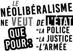 Le néolibéralisme ne veut de l'État que pour...