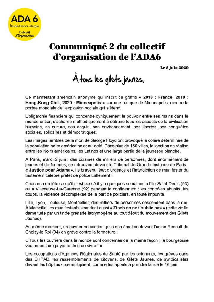 Communiqué 2-collectif dorganisation ADA6-1