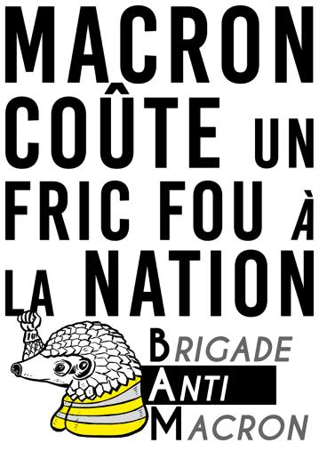 Macron coûte un fric fou à la nation BAM RVB