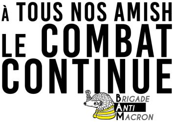 A tous nos amish Le combat continue BAM RVB