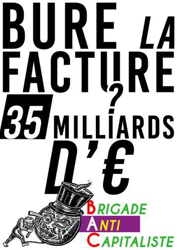 Bure la facture 35 milliards d'euros BAC