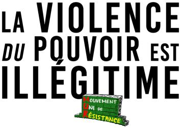La violence du pouvoir est illégitime MUR RVB