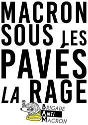 Macron Sous les pavés la rage BAM RVB