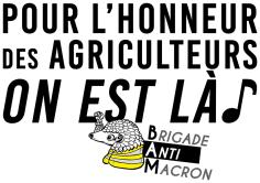 Pour l'honneur des agriculteurs On est là BAM RVB