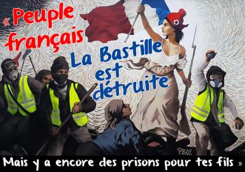 Peuple français la bastille est détruite