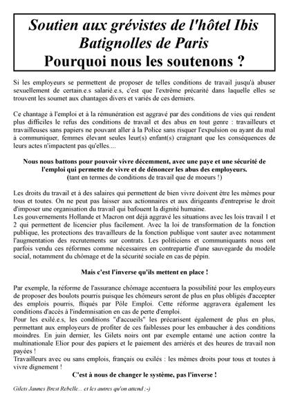 tract Soutien aux grévistes de l'hôtel Ibis 2