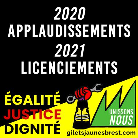 2020 applaudissemnts 2021 licenciements INSTAGRAM