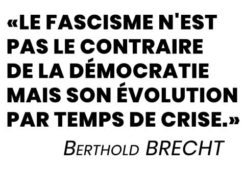Le fascisme n'est pas le contraire de la démocratie NB