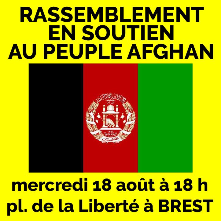 Rassemblement en soutien au peuple afghan